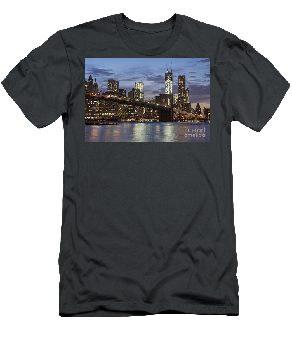 America T-Shirt featuring the photograph Manhattan Skyline New York by Juergen Held