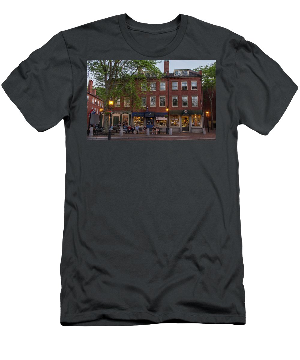 Market Square Men's T-Shirt (Athletic Fit) featuring the photograph Market Square by Bill Ryan