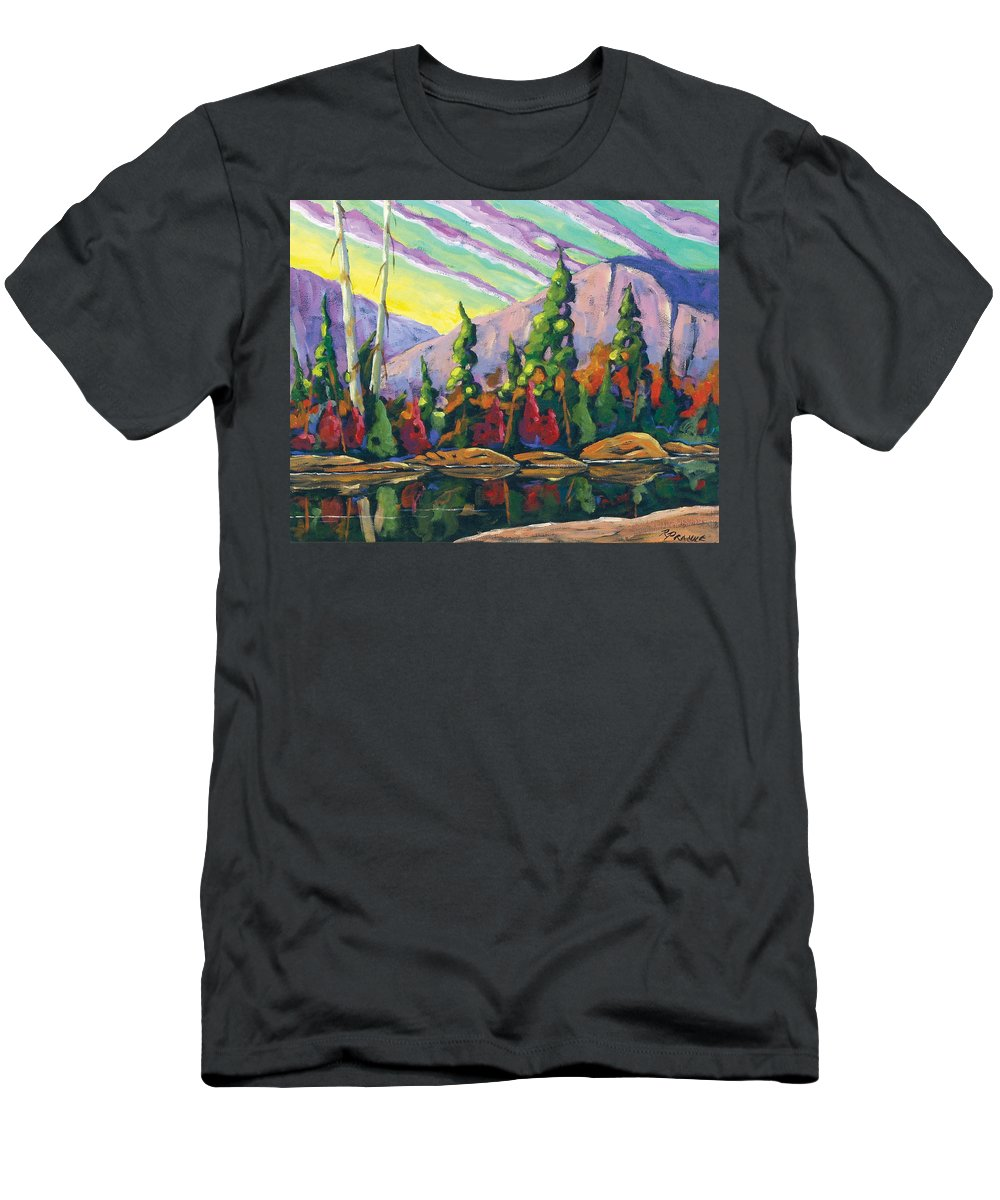 Art Men's T-Shirt (Athletic Fit) featuring the painting Nature Expression by Richard T Pranke