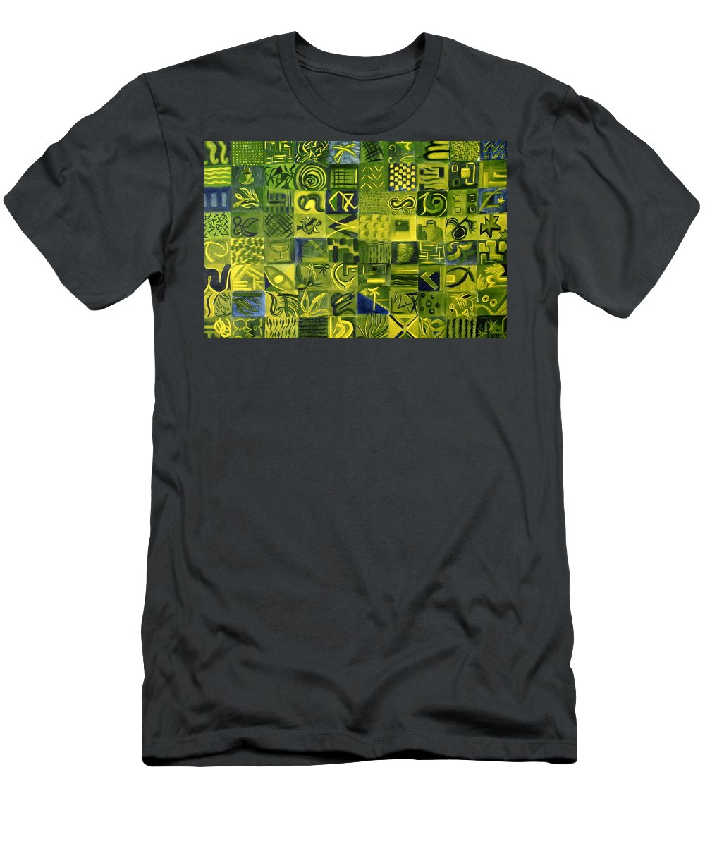 Green T-Shirt featuring the painting Night On The Lawn by Patricia Cleasby