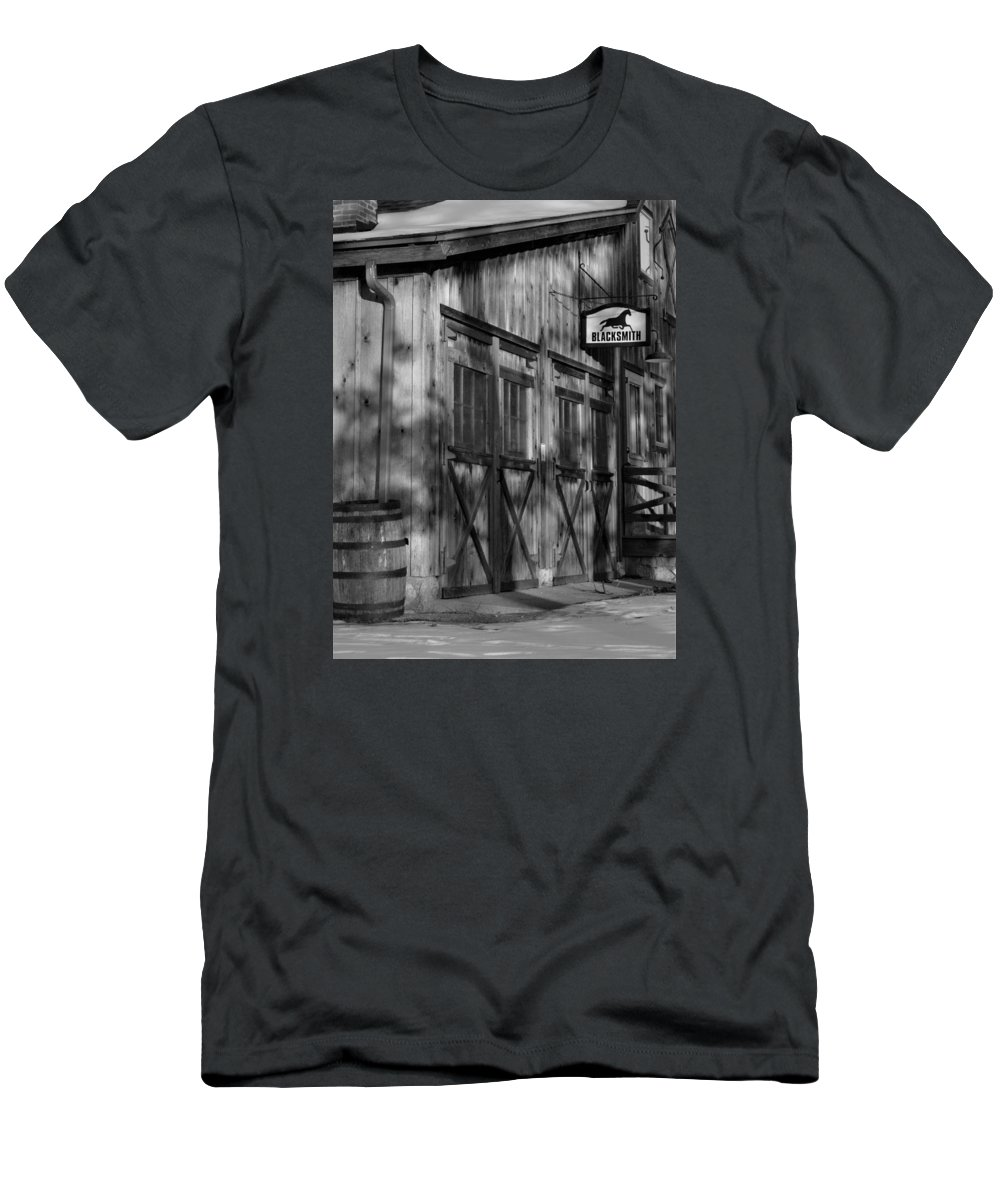 Blacksmith Men's T-Shirt (Athletic Fit) featuring the photograph Old Mill by Marty Jordan