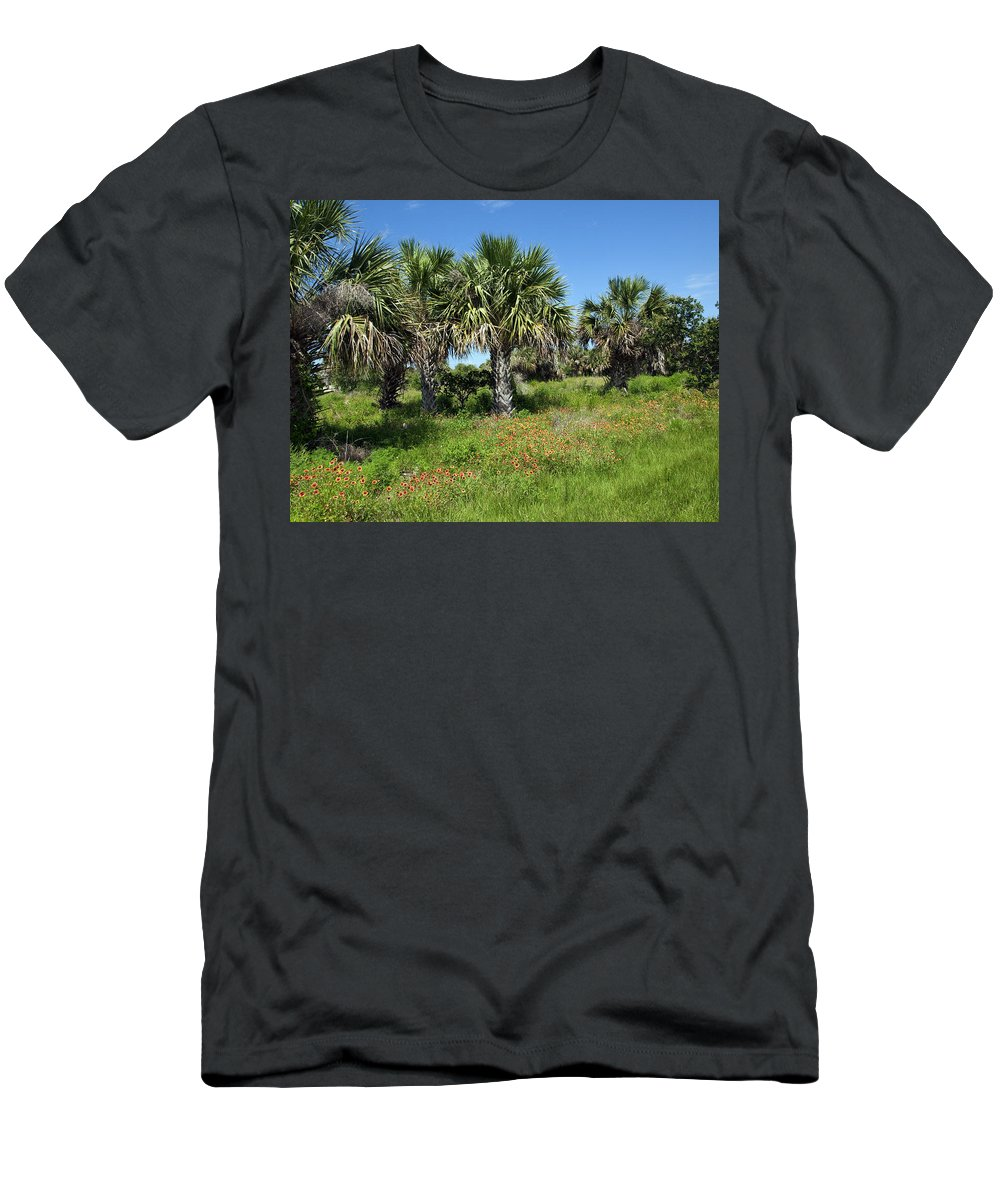 Florida Men's T-Shirt (Athletic Fit) featuring the photograph Pelican Island In Florida by Allan Hughes