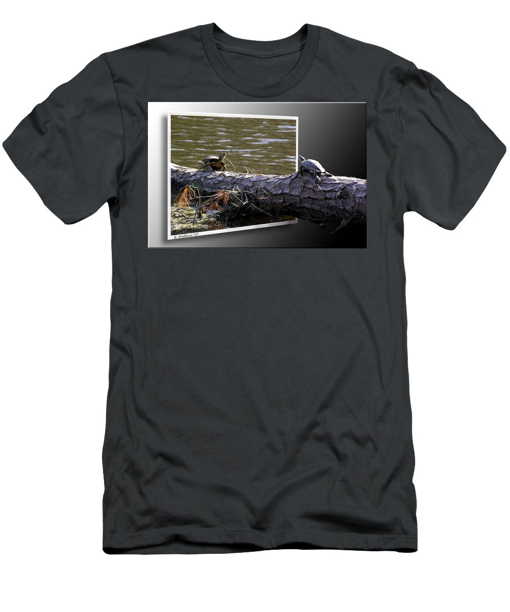 2d Men's T-Shirt (Athletic Fit) featuring the photograph Playing Chicken by Brian Wallace
