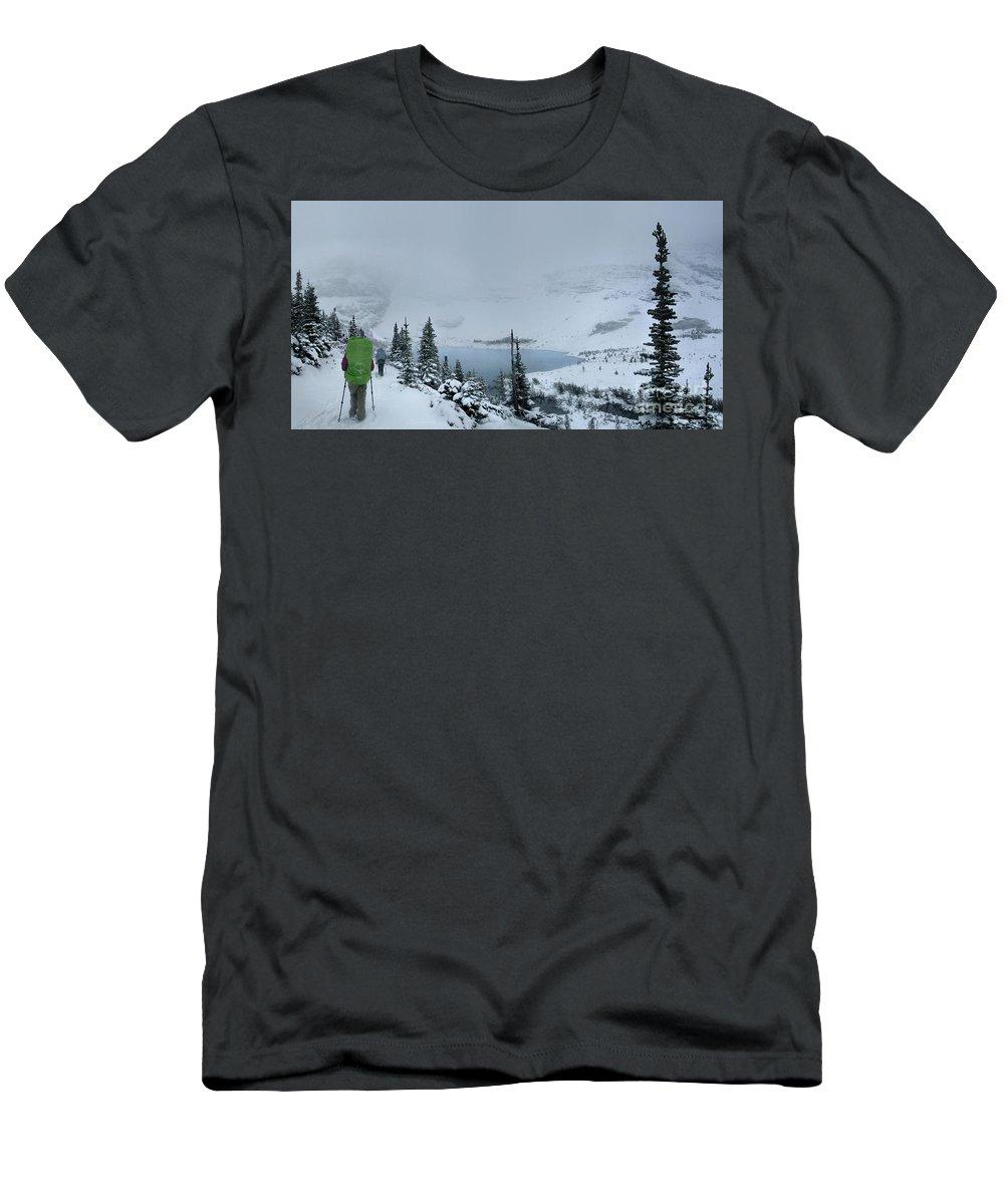 Glacier National Park Men's T-Shirt (Athletic Fit) featuring the photograph Ptarmigan Lake - Glacier National Park by Bruce Lemons