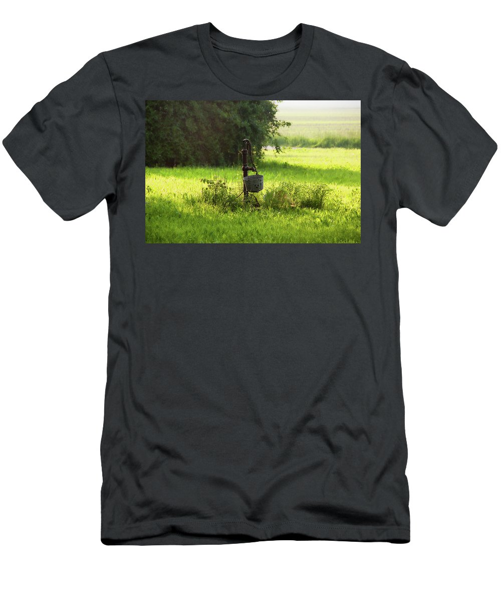Pump Men's T-Shirt (Athletic Fit) featuring the photograph Pump And Bucket by David Arment
