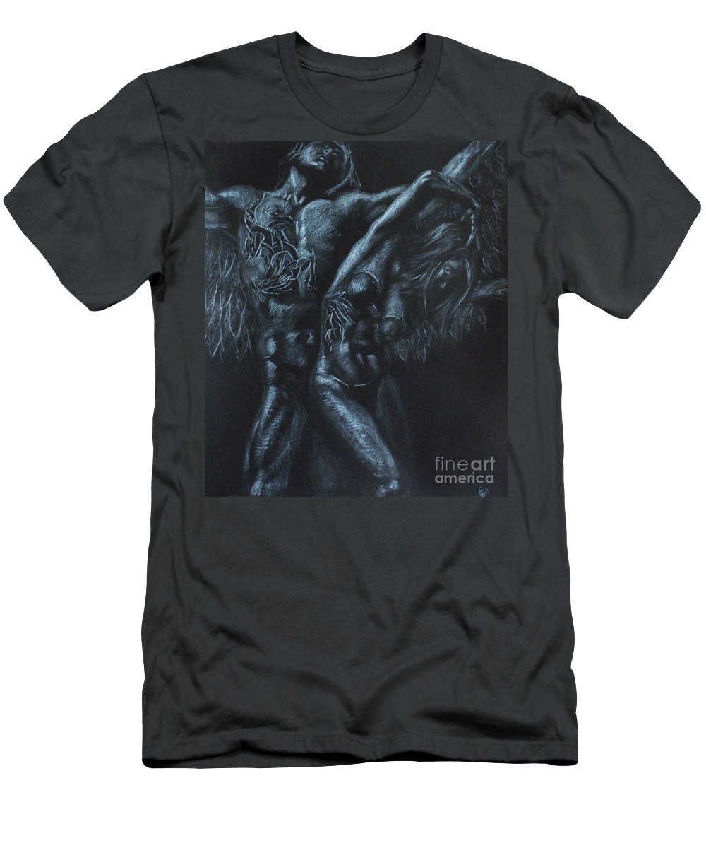 Woman Men's T-Shirt (Athletic Fit) featuring the drawing Revival by Kateryna Bortsova
