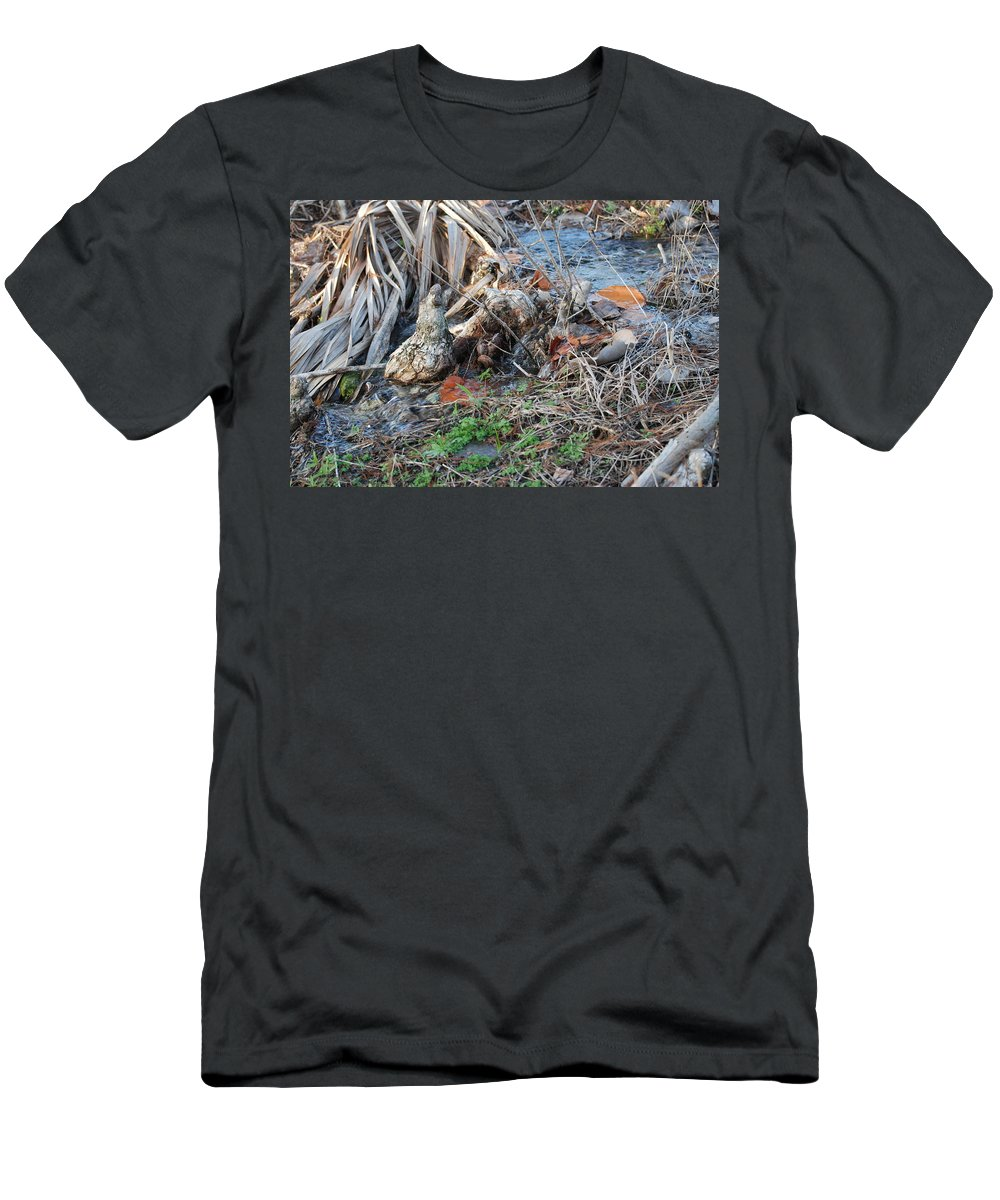 River Men's T-Shirt (Athletic Fit) featuring the photograph Running Water by Rob Hans