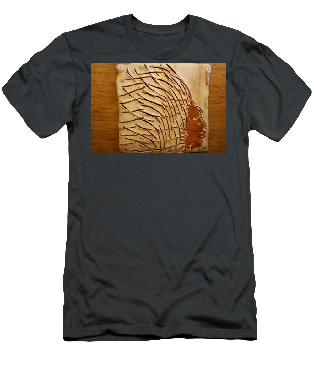 Jesus Men's T-Shirt (Athletic Fit) featuring the ceramic art Seed - Tile by Gloria Ssali