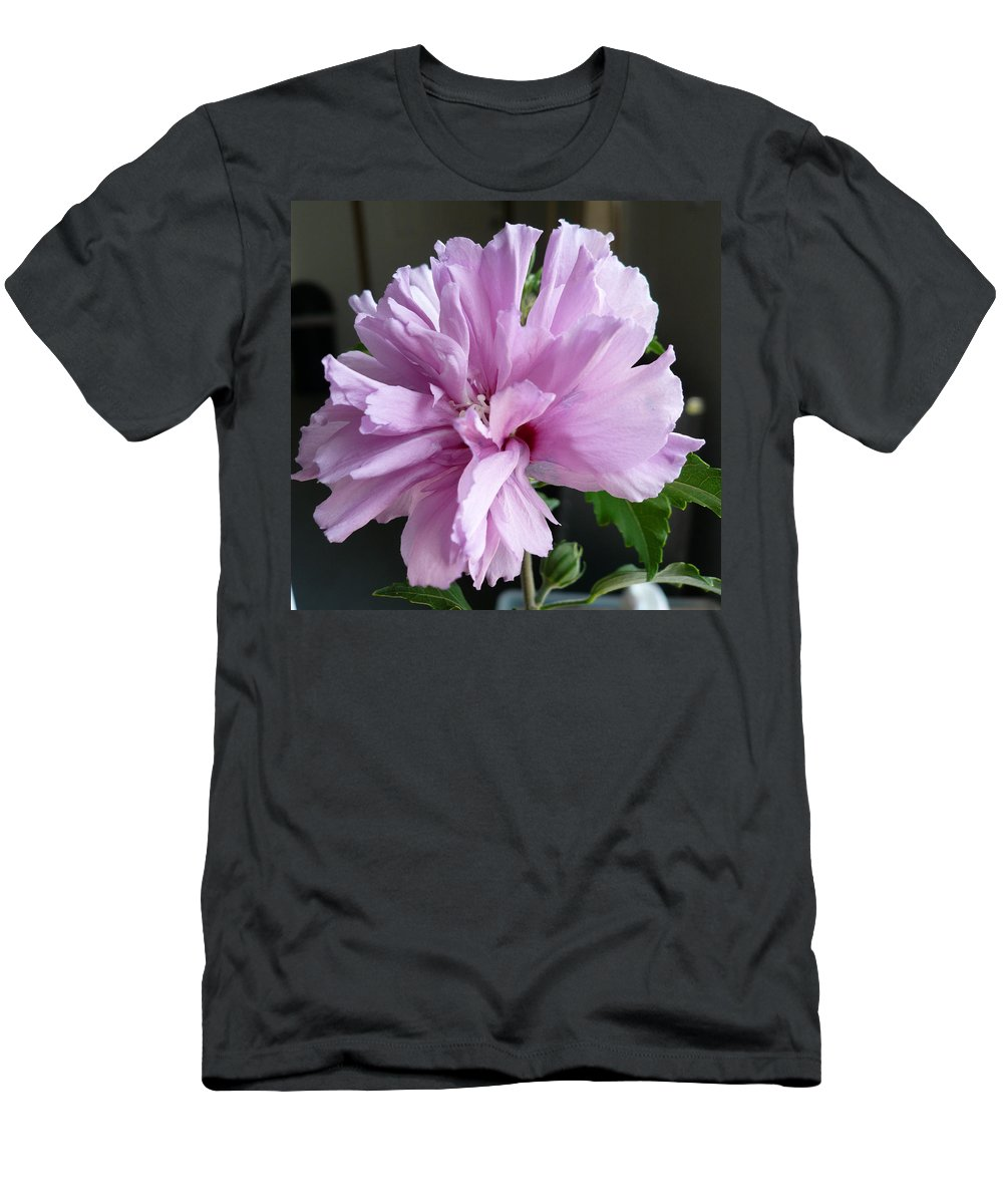 Phoyography.hibiscus Flower Floral Bloom Bush Pink Men's T-Shirt (Athletic Fit) featuring the photograph So Pink by Karin Dawn Kelshall- Best