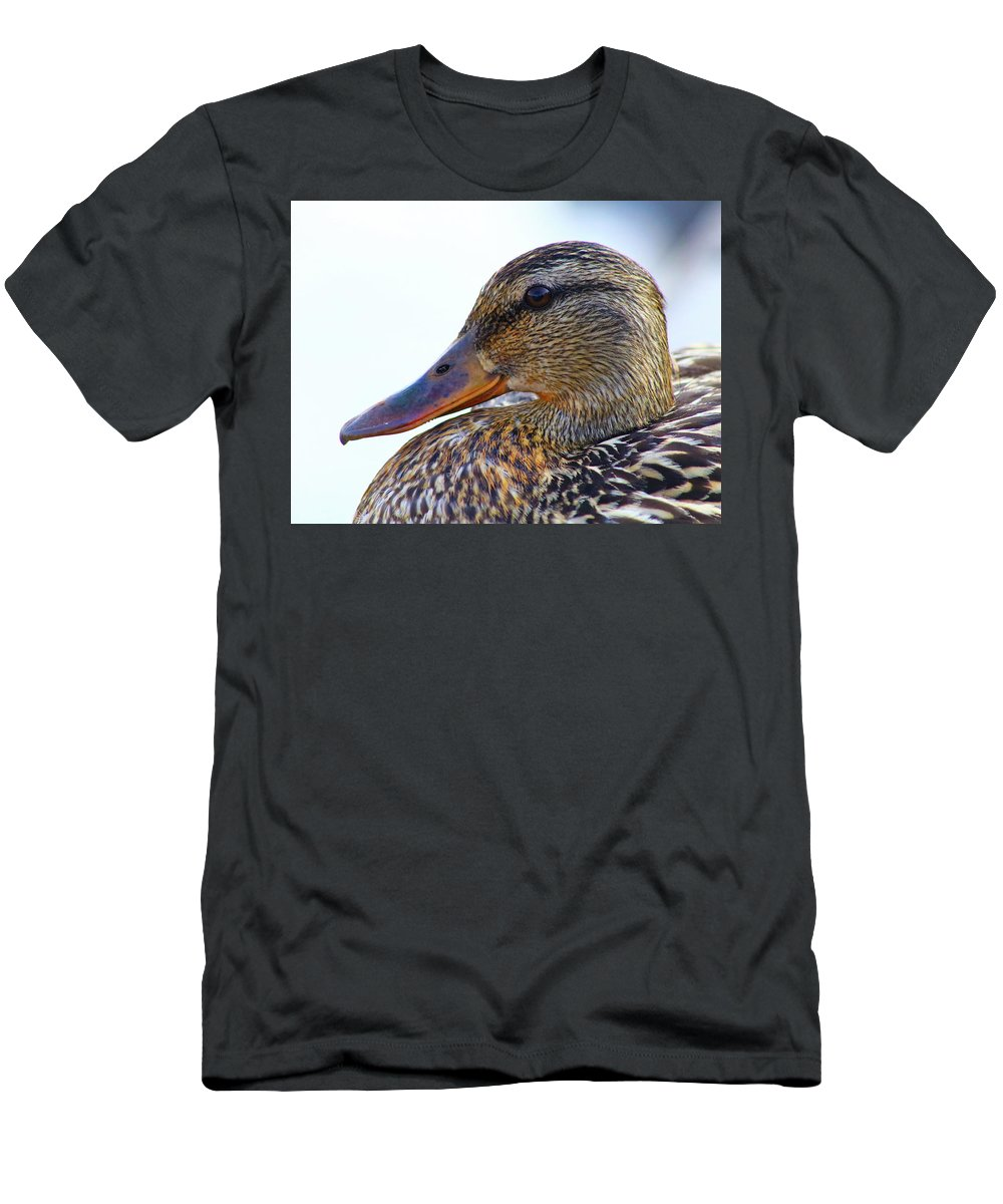 Mallard #tonyumanaphotography T-Shirt featuring the photograph So Serious by Tony Umana