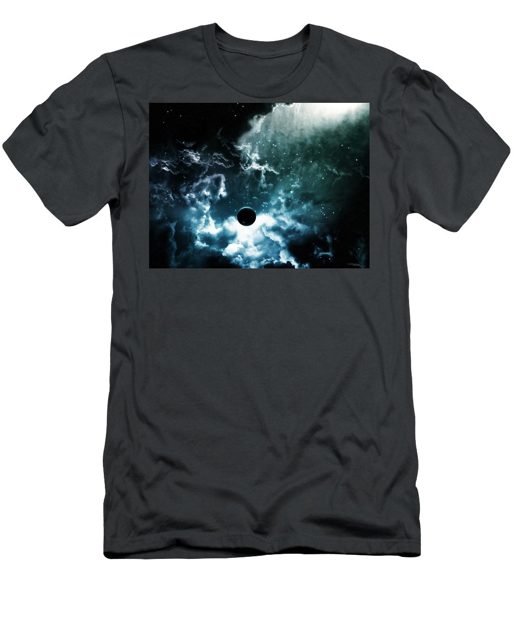 Space Men's T-Shirt (Athletic Fit) featuring the digital art Space by Rose Lynn