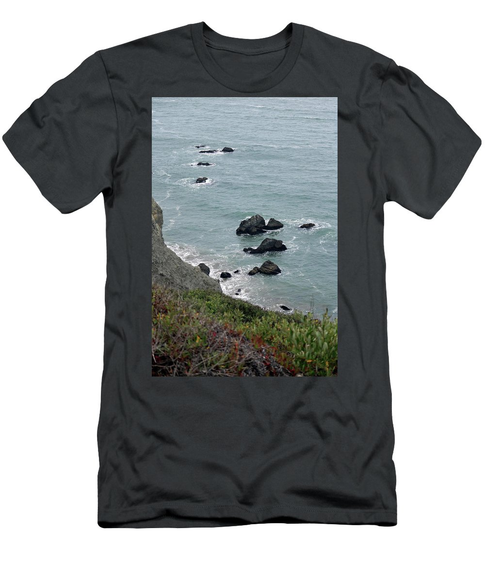 Waves Men's T-Shirt (Athletic Fit) featuring the photograph Stepping Stones by Trish Hinze