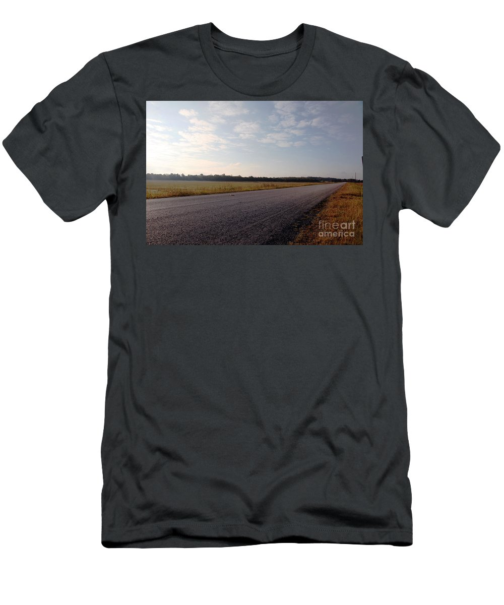 Streets Men's T-Shirt (Athletic Fit) featuring the photograph Sunday Drive by Amanda Barcon