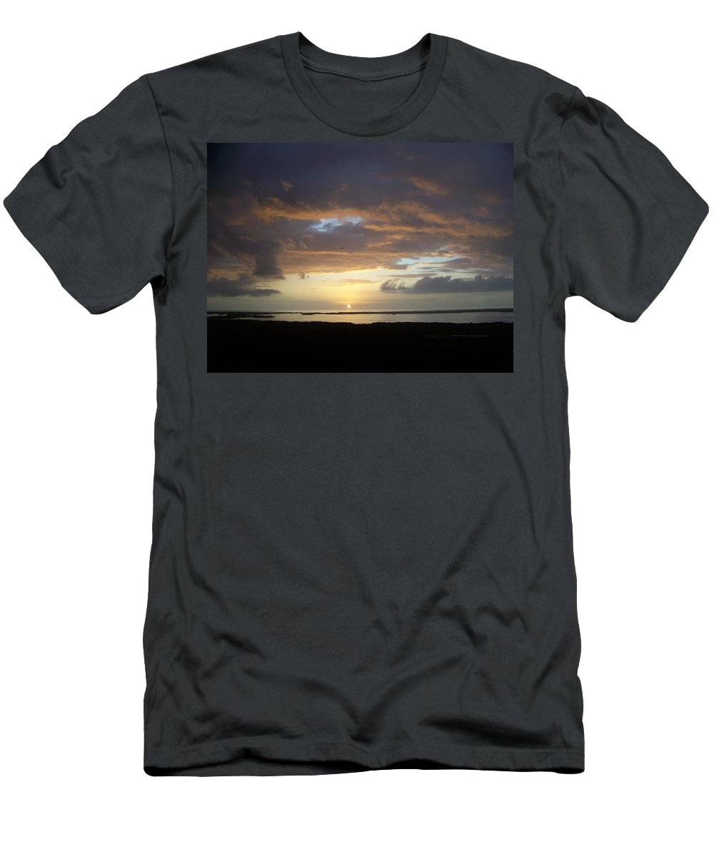 Sunset Men's T-Shirt (Athletic Fit) featuring the photograph Sunset 0020 by Laurie Paci
