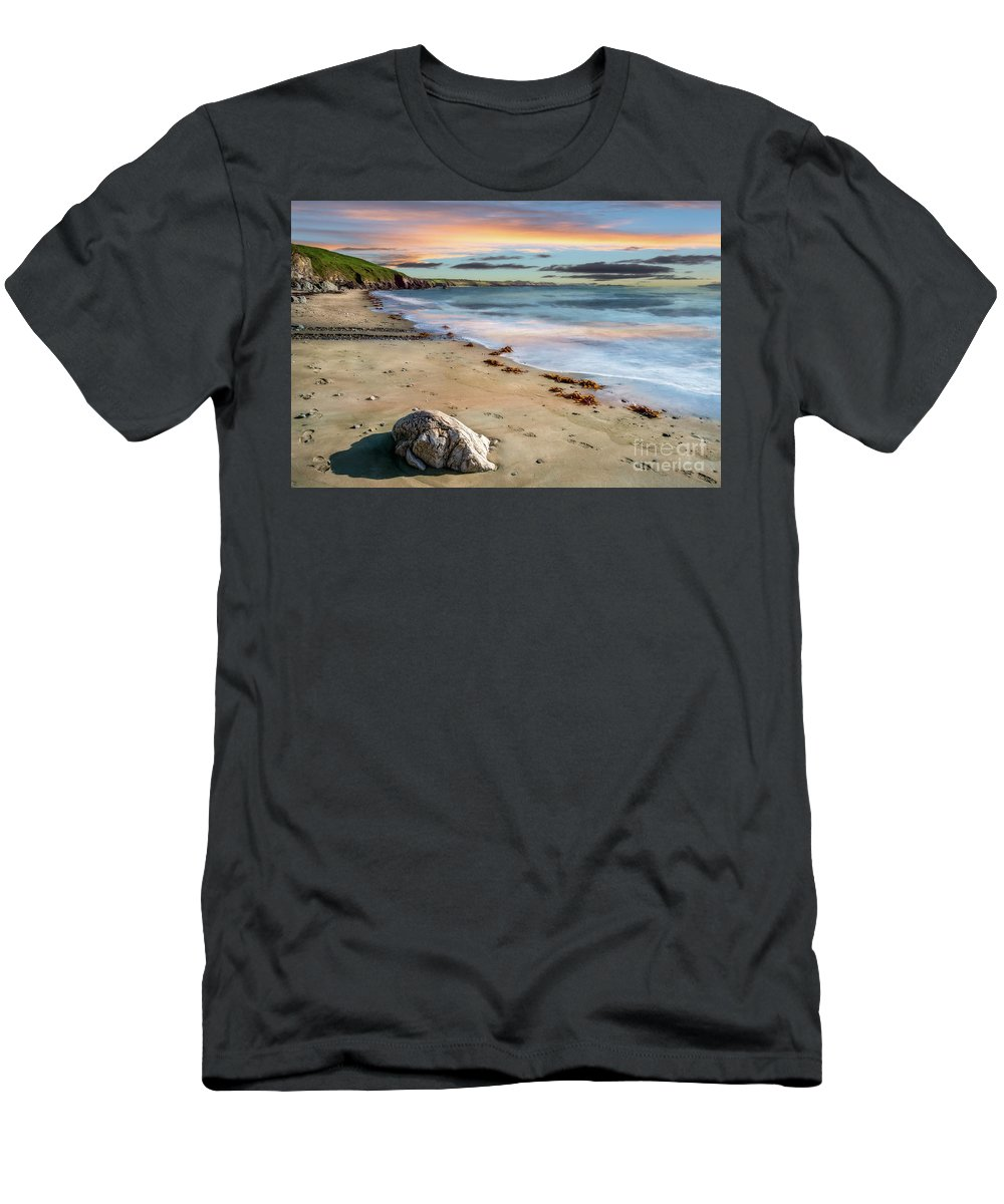 Sunset Men's T-Shirt (Athletic Fit) featuring the photograph Sunset Beach by Adrian Evans