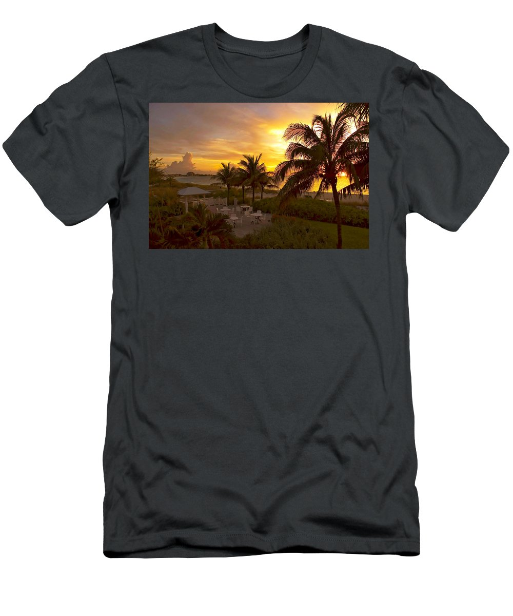 Sunset Men's T-Shirt (Athletic Fit) featuring the photograph Sunset On Grace Bay by Stephen Anderson