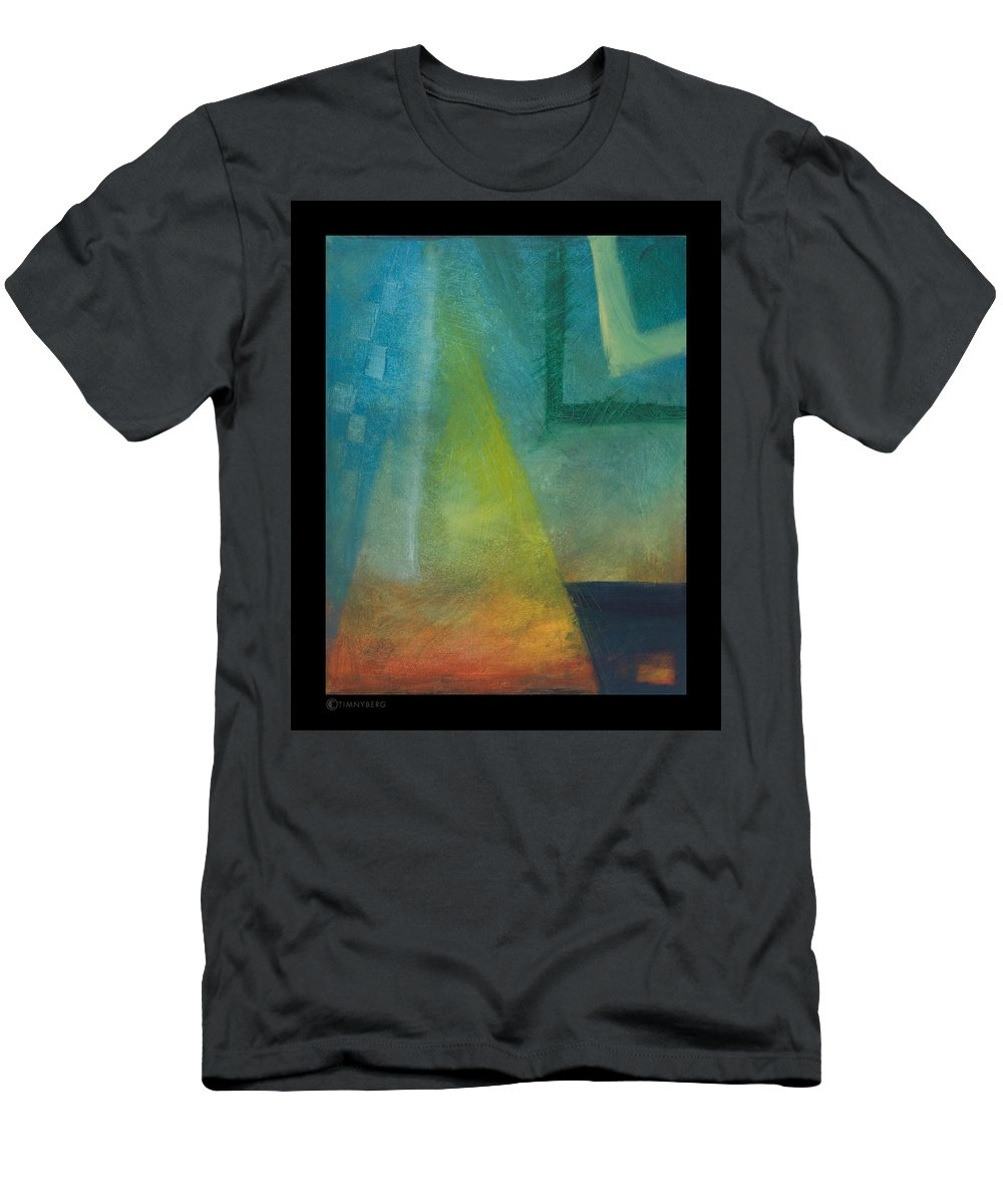 Sunset Men's T-Shirt (Athletic Fit) featuring the painting Sunset Sail by Tim Nyberg