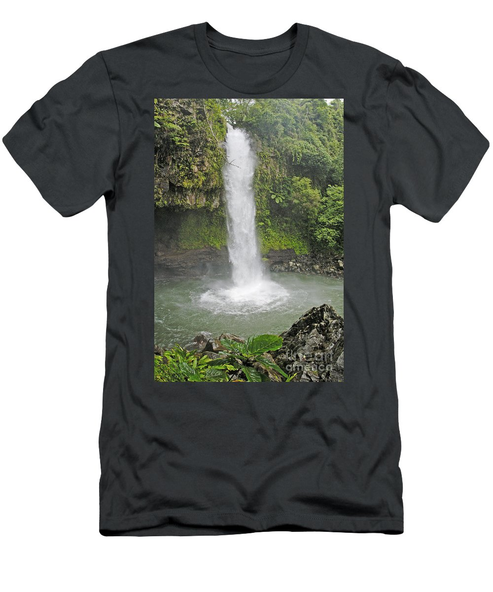 Beautiful Men's T-Shirt (Athletic Fit) featuring the photograph Taveuni, Tavoro Waterfall by Himani - Printscapes