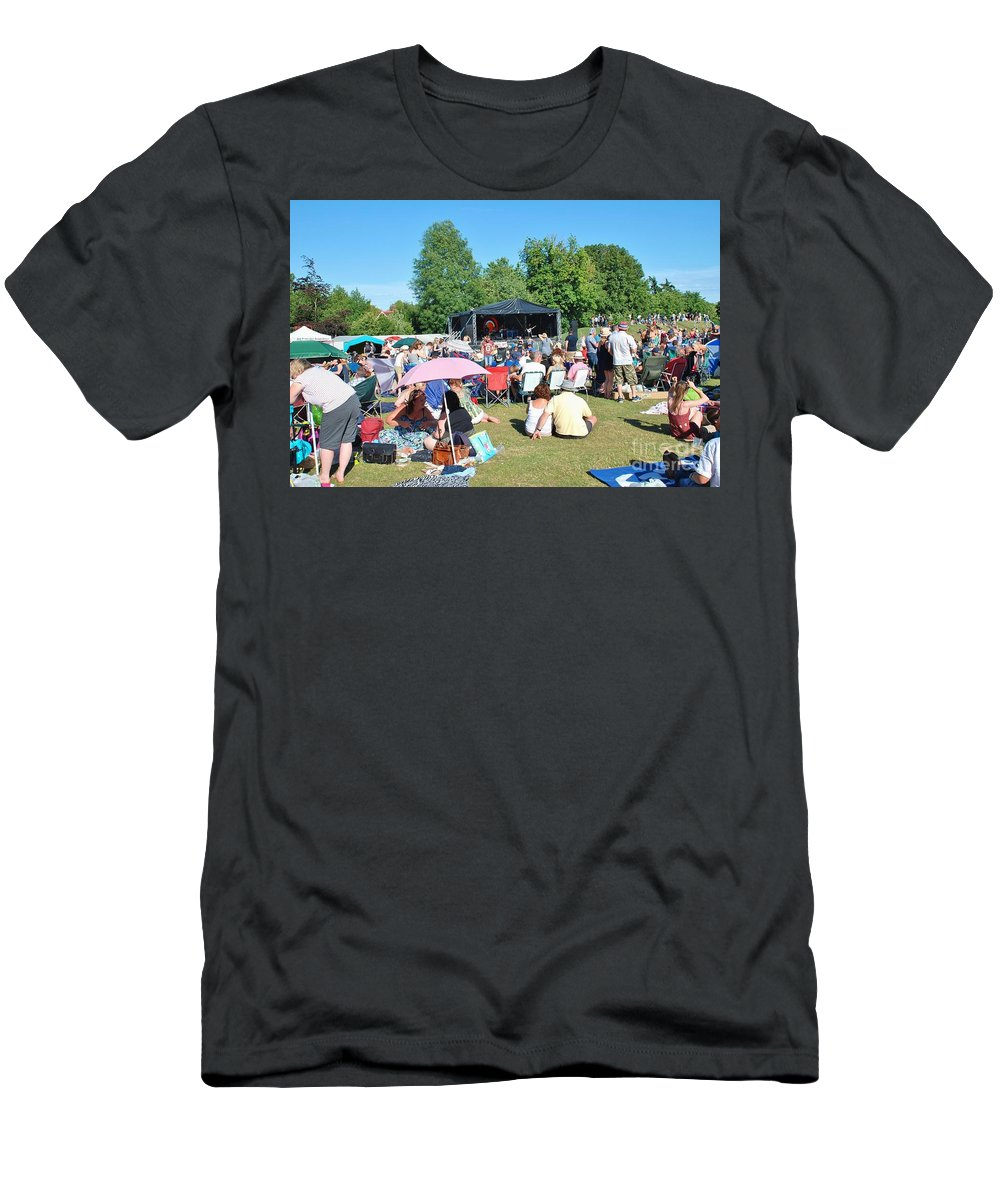 Tentertainment Men's T-Shirt (Athletic Fit) featuring the photograph Tentertainment Music Festival 2015 by David Fowler