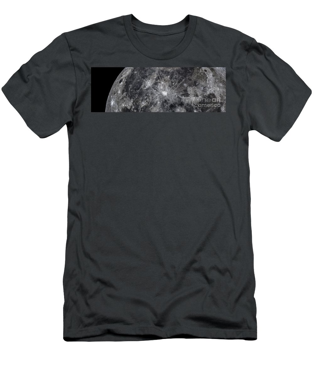Moon Men's T-Shirt (Athletic Fit) featuring the photograph The Moon by Babak Tafreshi