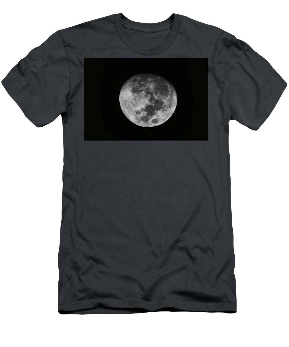 The Moon Men's T-Shirt (Athletic Fit) featuring the photograph The Moon - by Totto Ponce