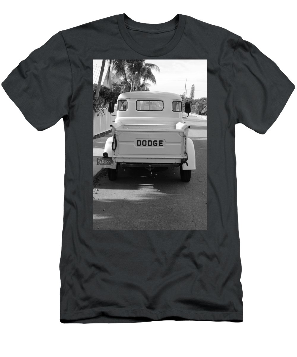 Black And White Men's T-Shirt (Athletic Fit) featuring the photograph The Old Dodge by Rob Hans