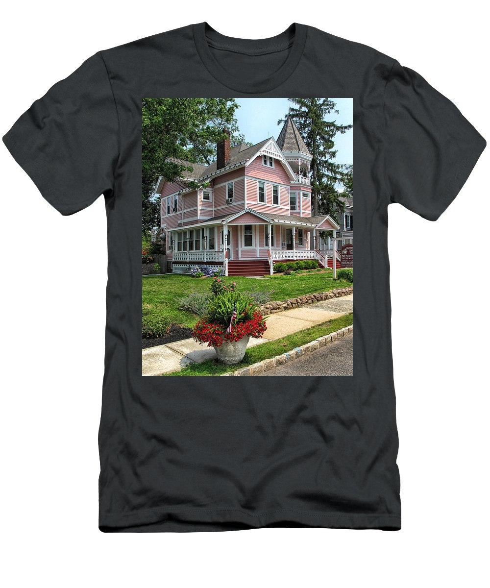 Pink Men's T-Shirt (Athletic Fit) featuring the photograph The Pink House by Dave Mills