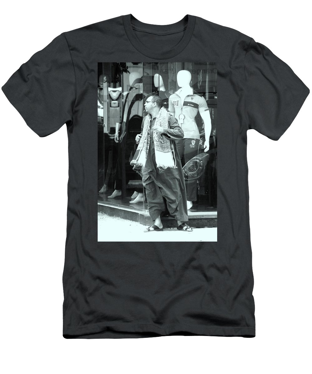 Jezcself Men's T-Shirt (Athletic Fit) featuring the photograph To Hide by Jez C Self
