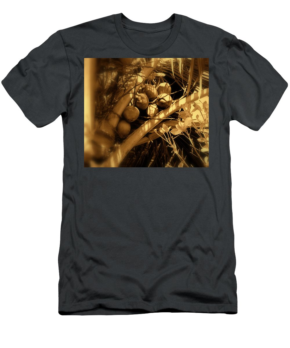 Coconuts Men's T-Shirt (Athletic Fit) featuring the photograph Tropical Dreams by Susanne Van Hulst