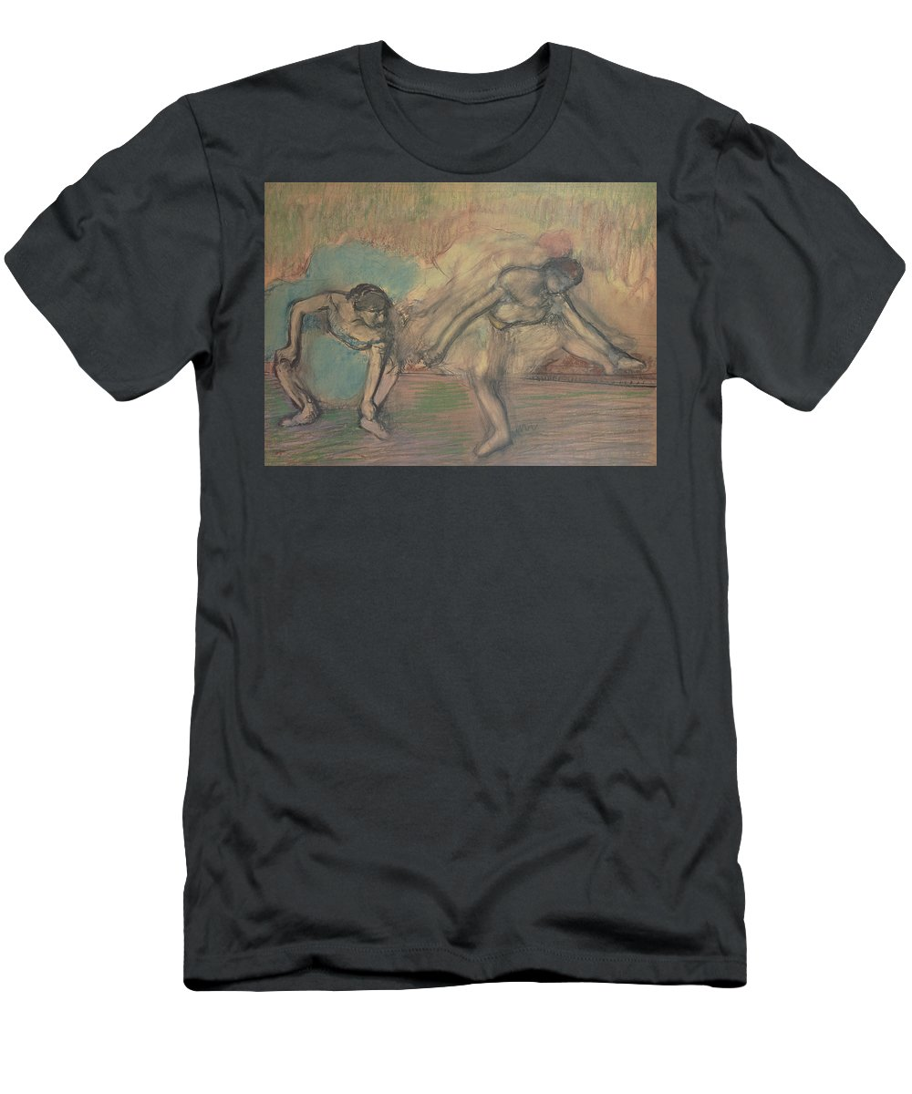 2 Men's T-Shirt (Athletic Fit) featuring the pastel Two Dancers Resting by Edgar Degas
