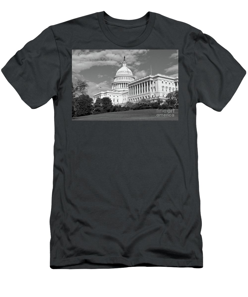 Congress Men's T-Shirt (Athletic Fit) featuring the photograph Us Capitol Washington Dc by Kimberly Blom-Roemer