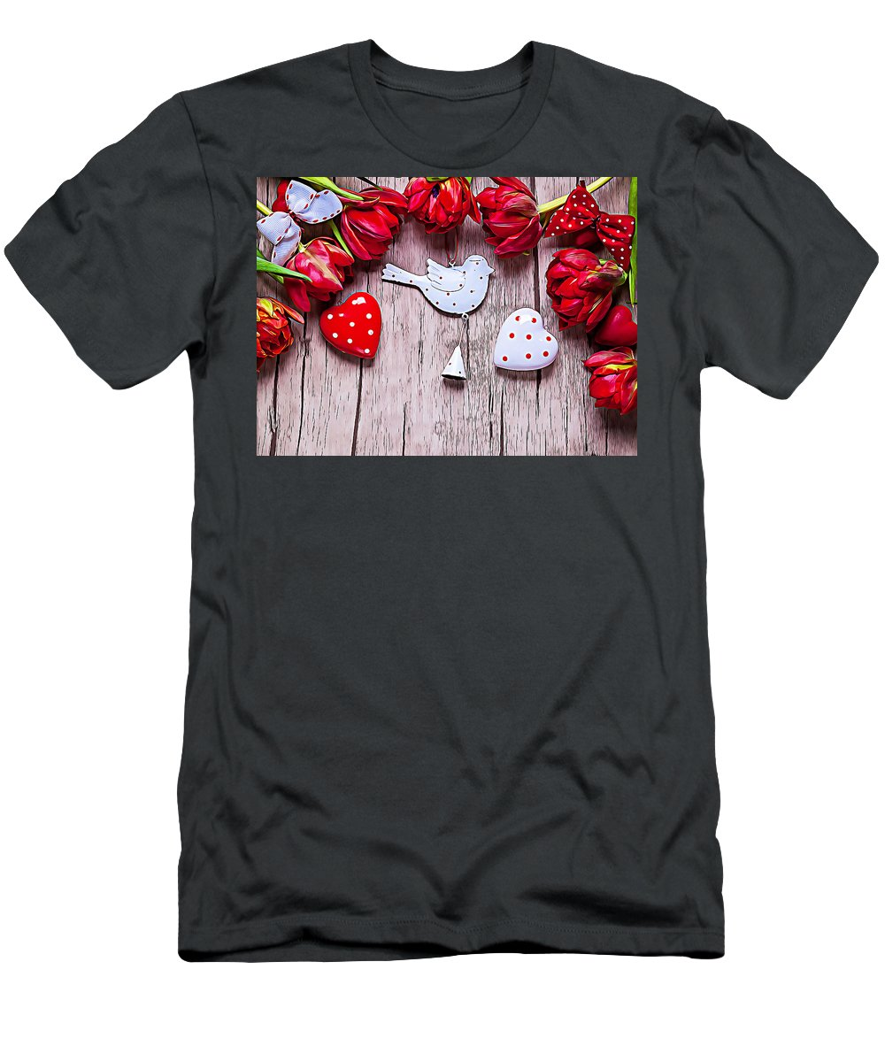 Valentine's Day Men's T-Shirt (Athletic Fit) featuring the digital art Valentine's Day by Lora Battle