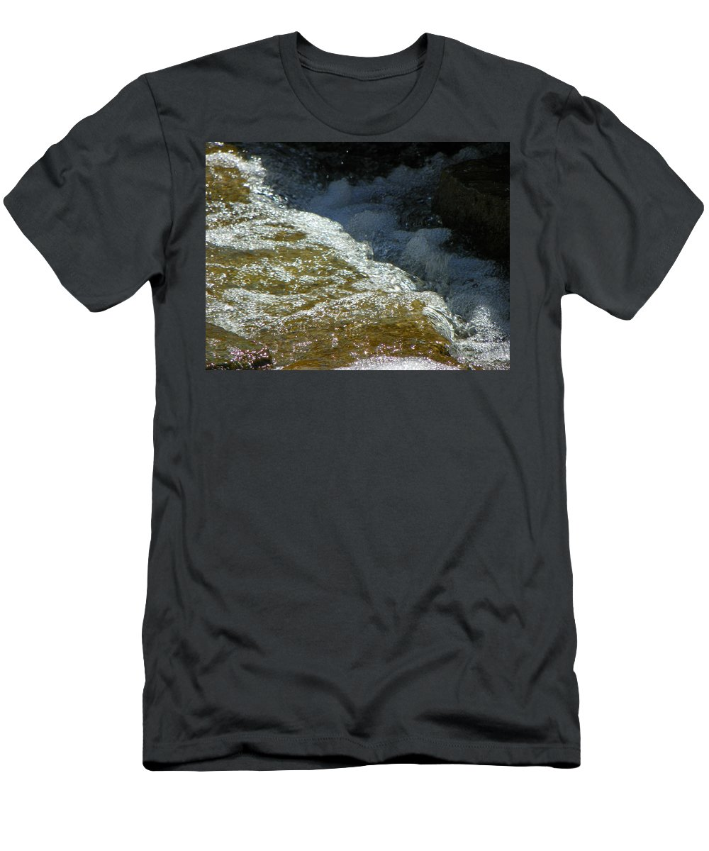 Abstract Men's T-Shirt (Athletic Fit) featuring the photograph Water 2-0 by Lenore Senior