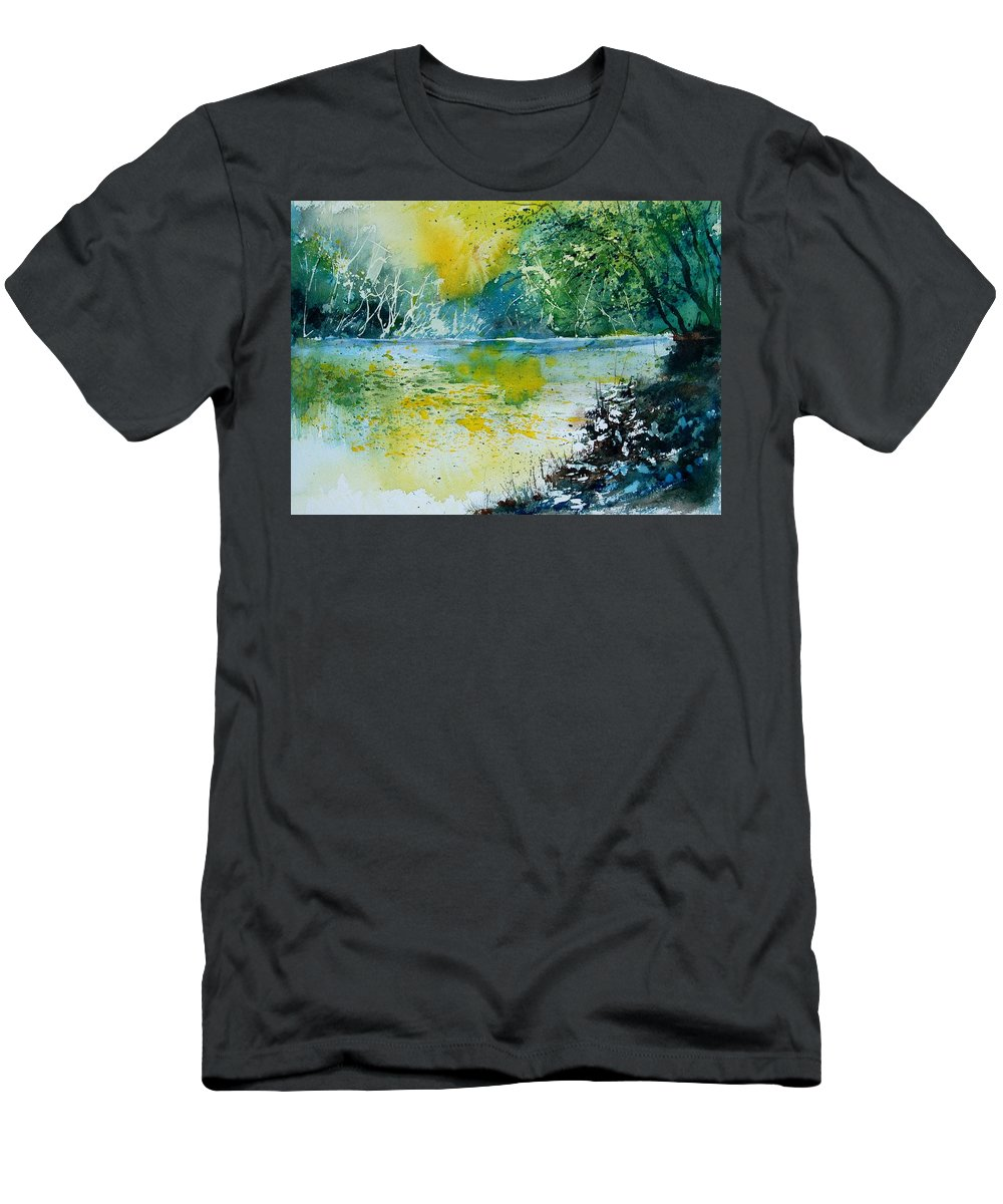 Water Men's T-Shirt (Athletic Fit) featuring the painting Watercolor 051108 by Pol Ledent