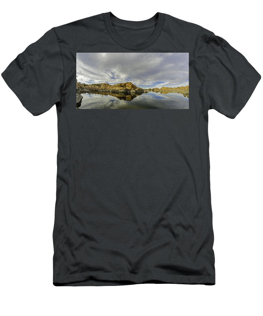 Arizona Men's T-Shirt (Athletic Fit) featuring the photograph Watson Lake 2 by Tom Clark