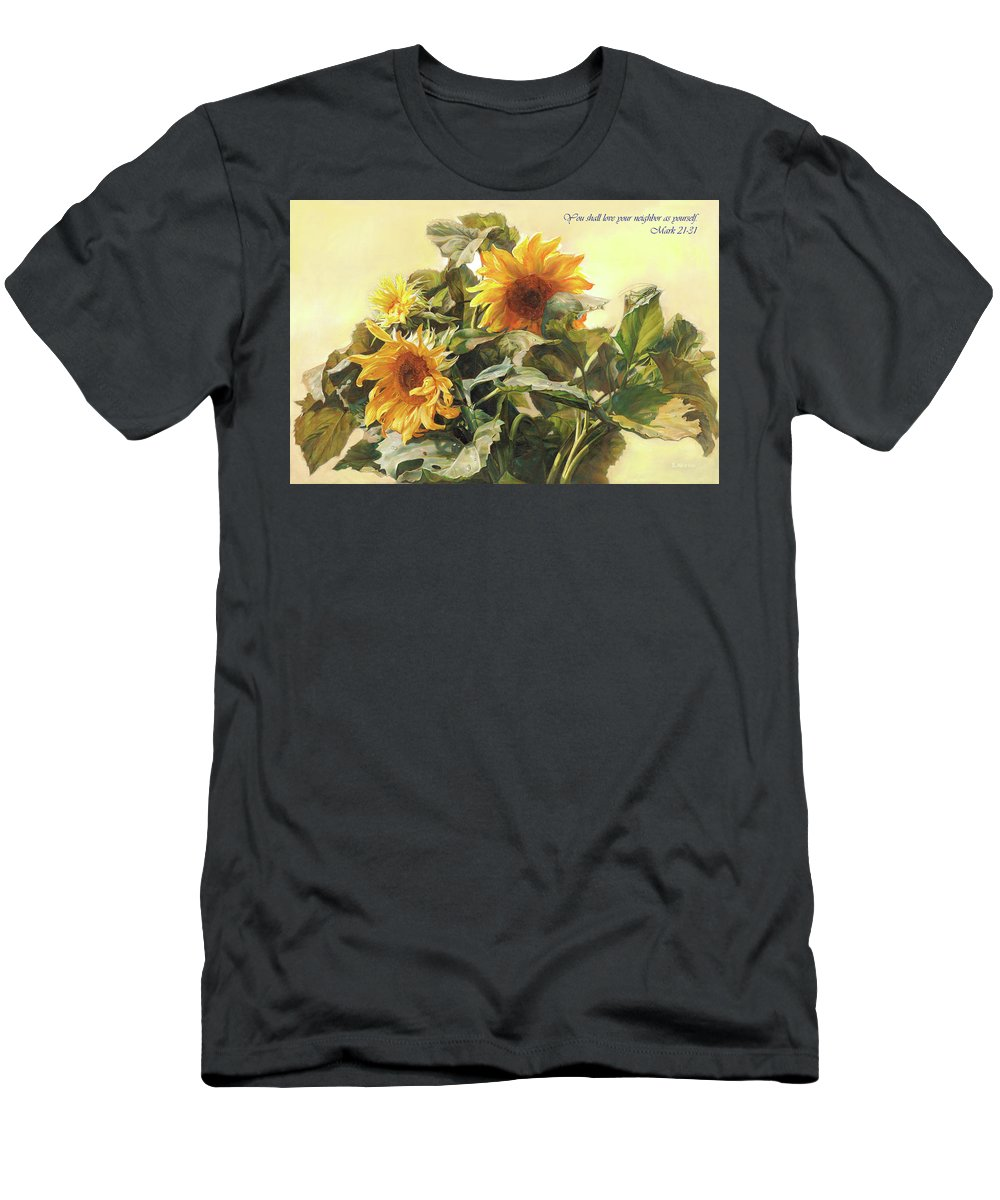New Testament Men's T-Shirt (Athletic Fit) featuring the painting You Shall Love Your Neighbor As Yourself by Svitozar Nenyuk