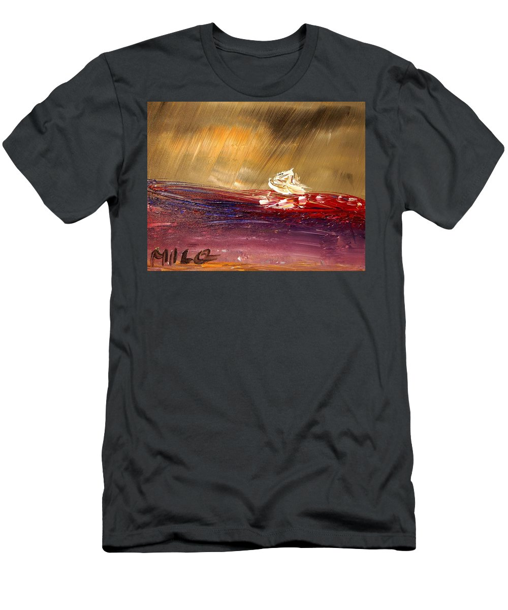 Impressionist Framed Prints Men's T-Shirt (Athletic Fit) featuring the photograph Seascape by Mark Kazav