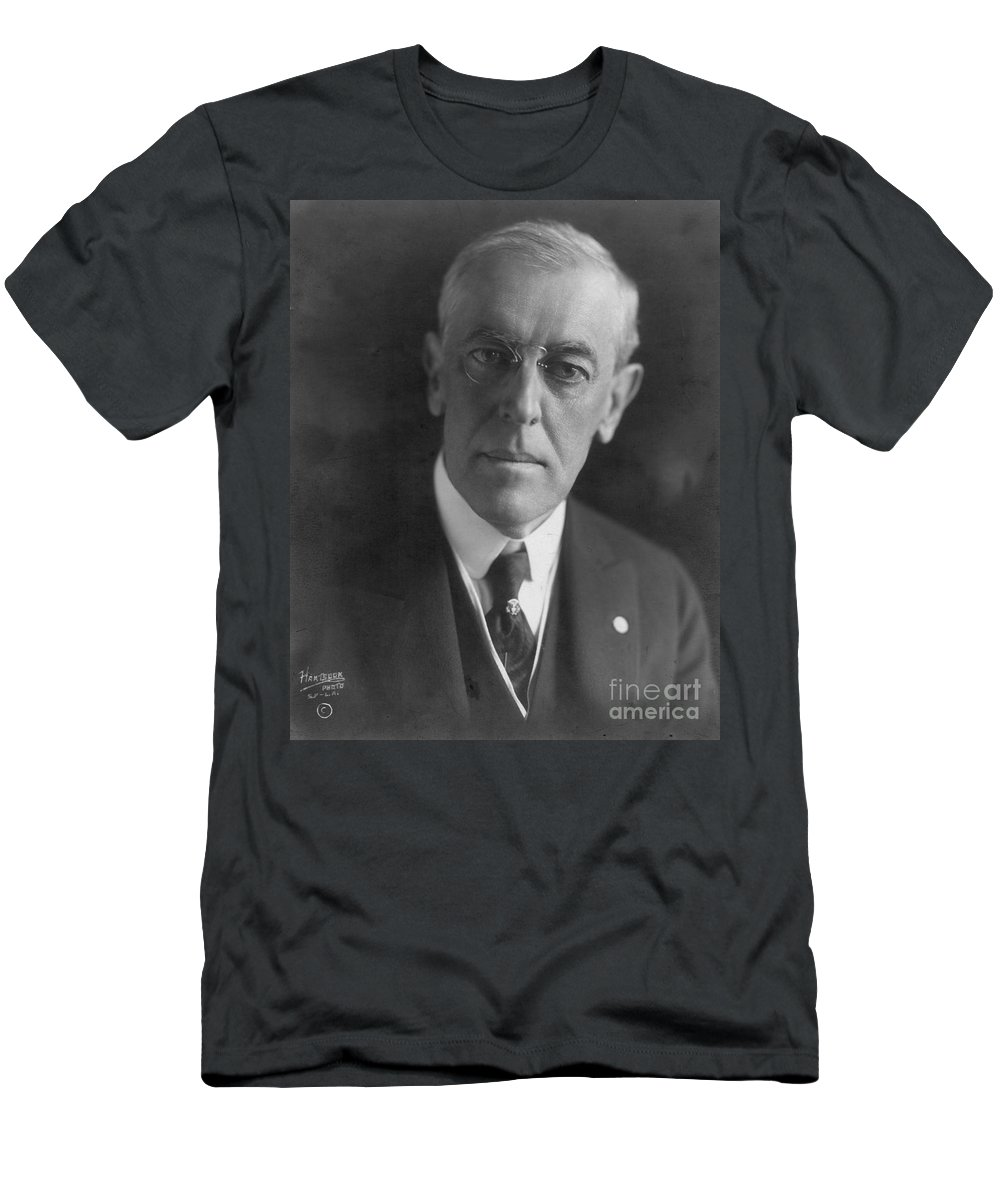 1919 Men's T-Shirt (Athletic Fit) featuring the photograph Woodrow Wilson (1856-1924) by Granger