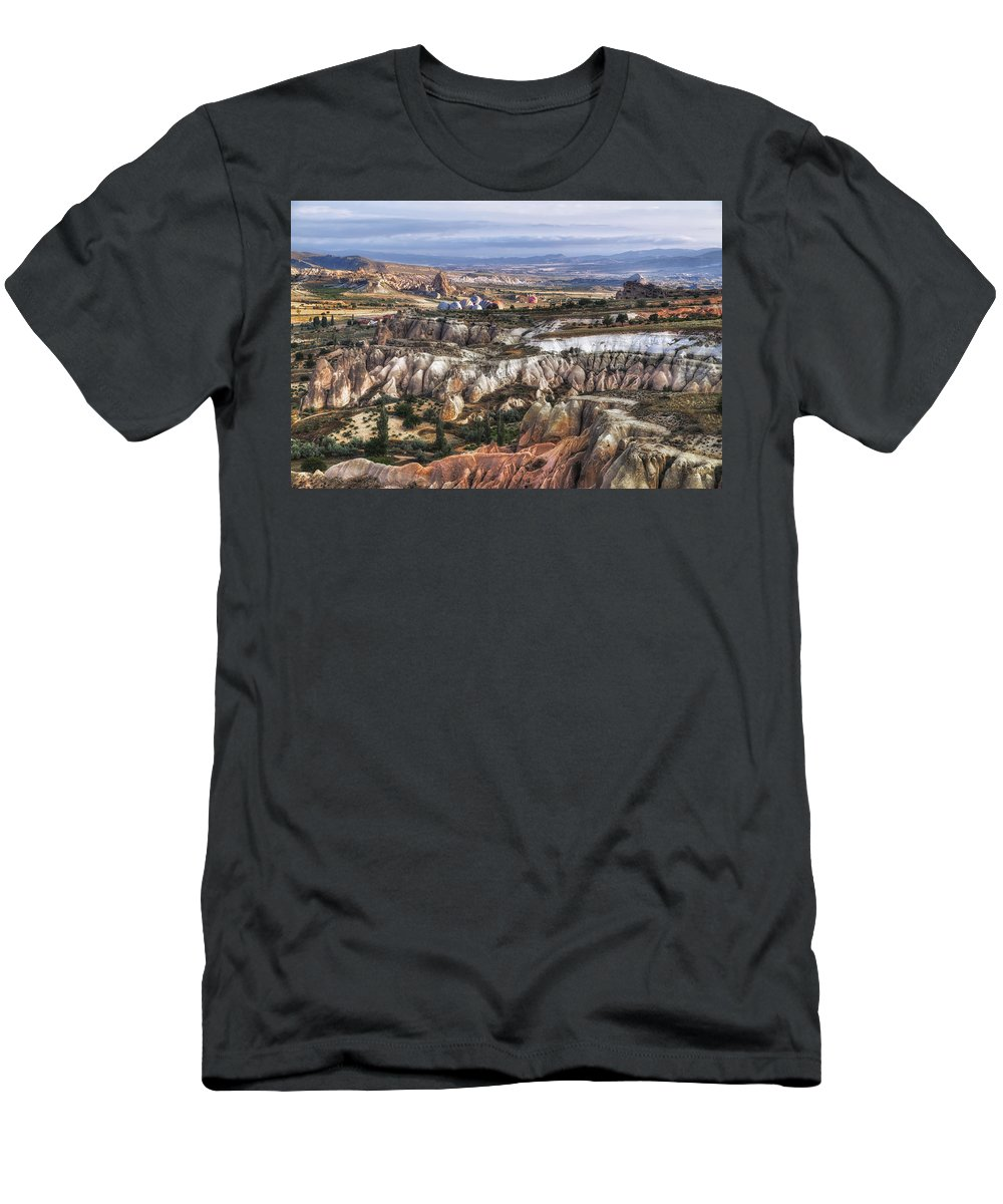 Cappadocia Men's T-Shirt (Athletic Fit) featuring the photograph Cappadocia - Turkey by Joana Kruse