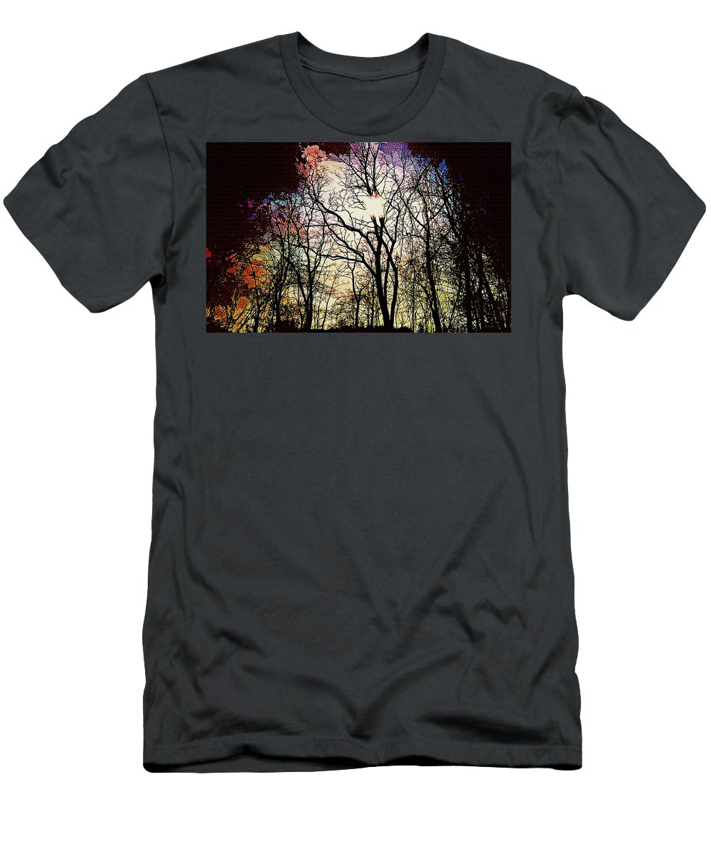 Forest Men's T-Shirt (Athletic Fit) featuring the digital art Forest by Lora Battle