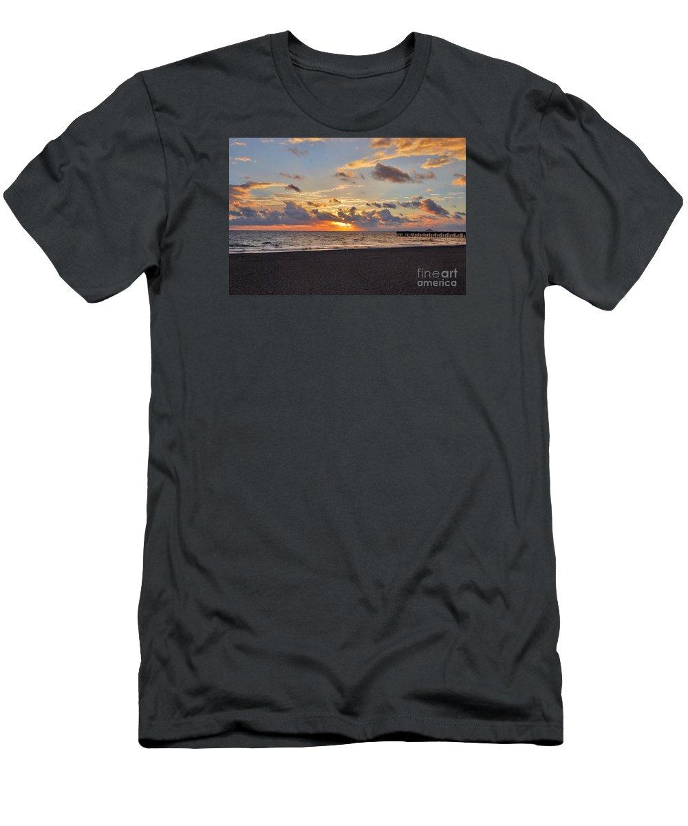 Juno Beach Pier Men's T-Shirt (Athletic Fit) featuring the photograph 14- Juno Beach Pier by Joseph Keane