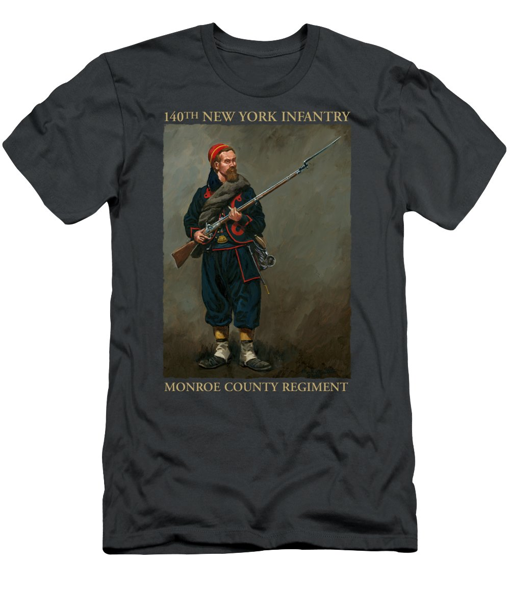 Maritato Men's T-Shirt (Athletic Fit) featuring the painting 140th New York Infantry by Mark Maritato