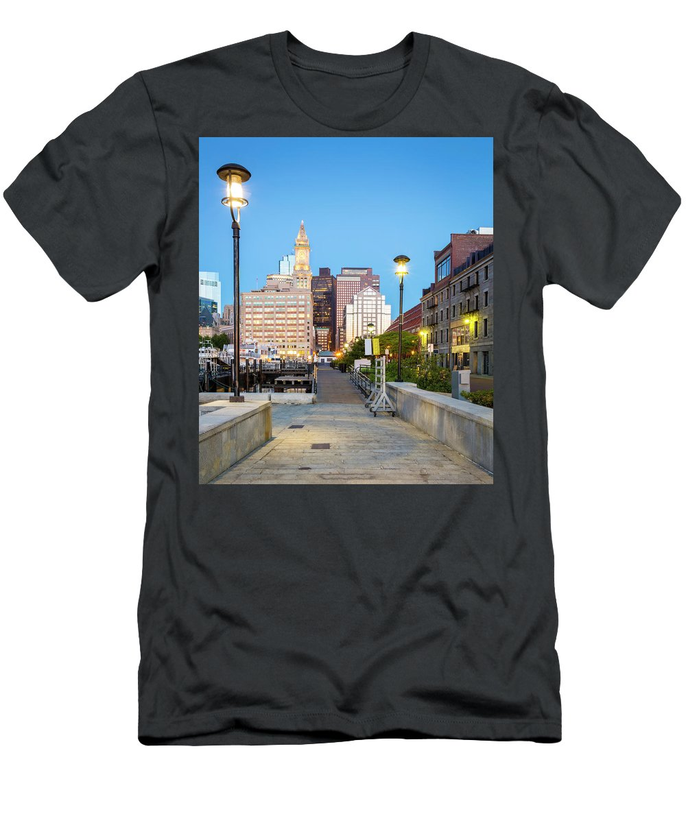 Boston Men's T-Shirt (Athletic Fit) featuring the pyrography Boston by Marcio Silva