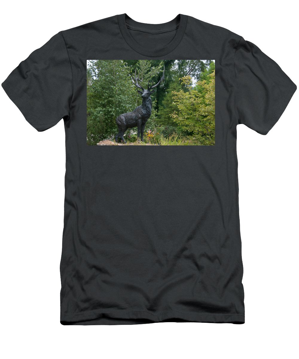Wellfield Men's T-Shirt (Athletic Fit) featuring the photograph Wellfield Gardens by Craig Hosterman