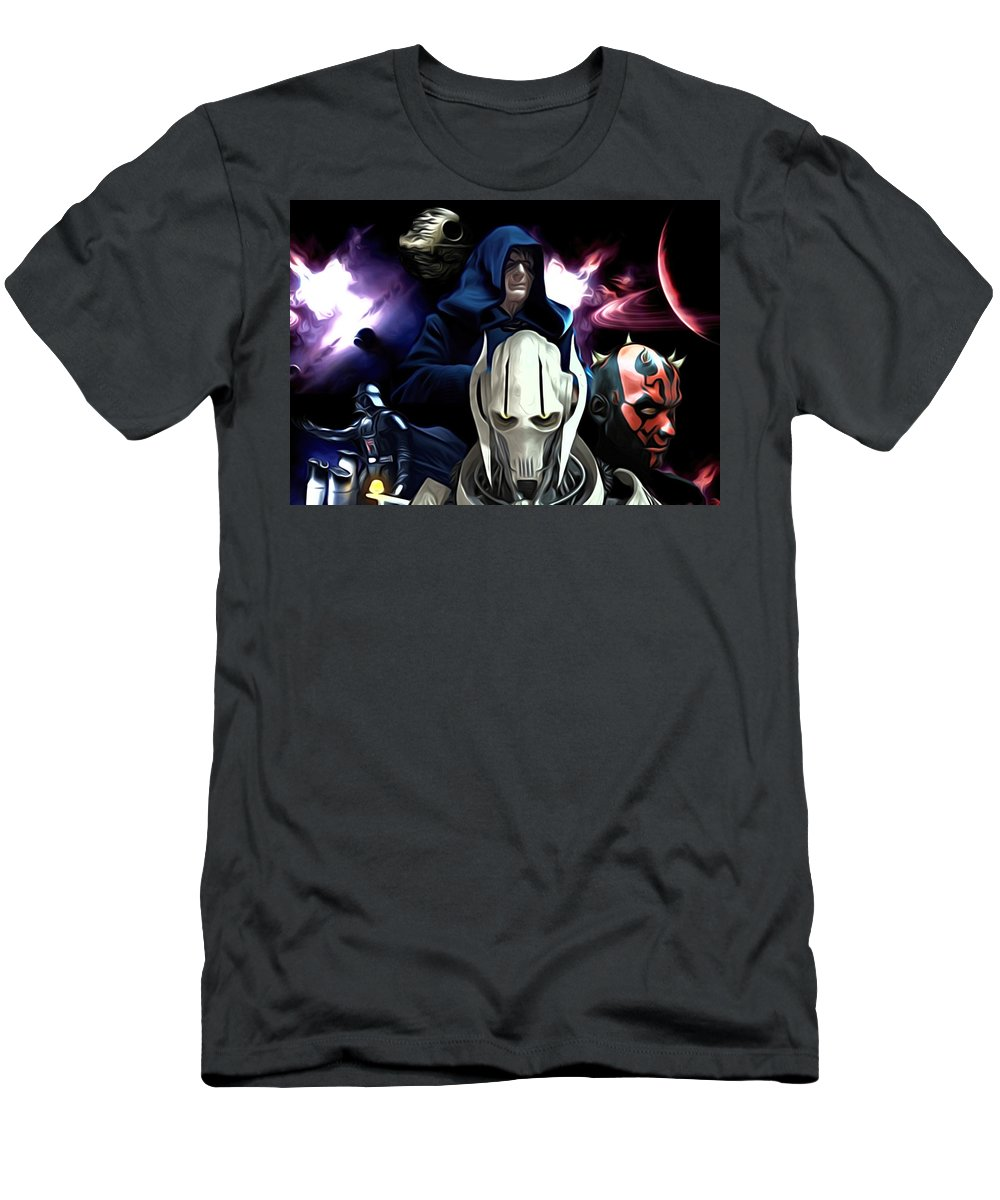 Star Wars Men's T-Shirt (Athletic Fit) featuring the digital art 2 Star Wars Art by Larry Jones