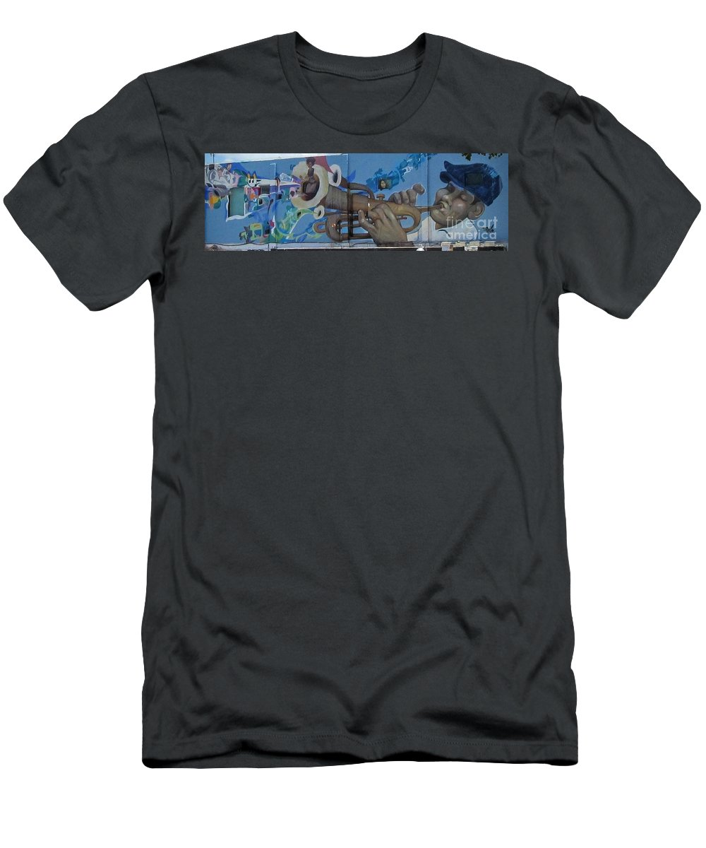 Wynwood Walls Art In And Around Miami. Men's T-Shirt (Athletic Fit) featuring the photograph Wynwood Art by Daniel Diaz