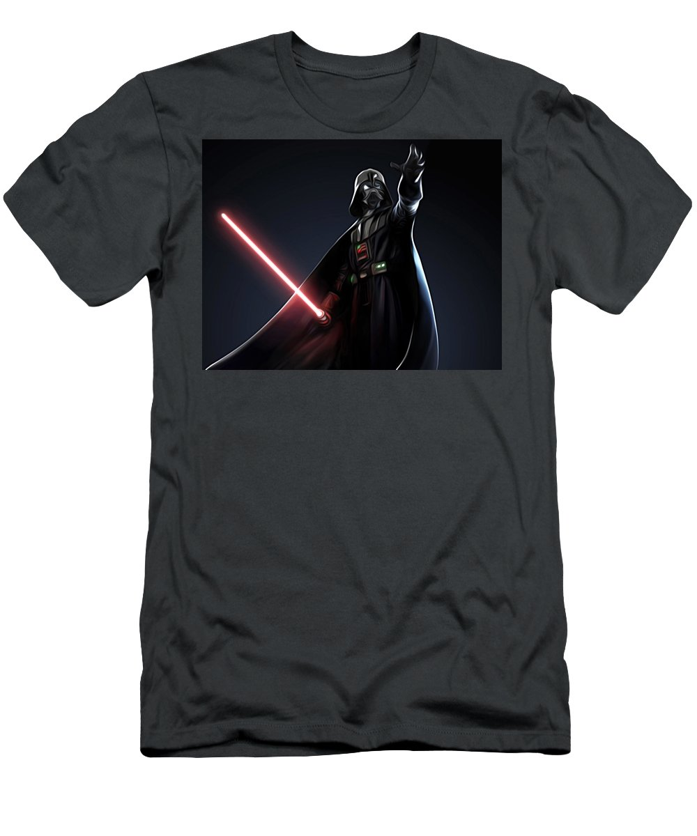 Star Wars Men's T-Shirt (Athletic Fit) featuring the digital art Star Wars The Poster by Larry Jones