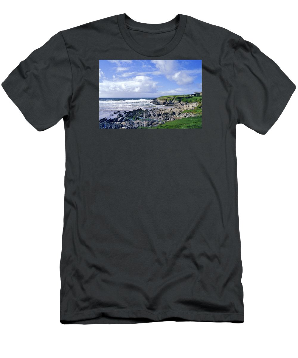 Atlantic Men's T-Shirt (Athletic Fit) featuring the photograph 174-008-ireland by David Lange