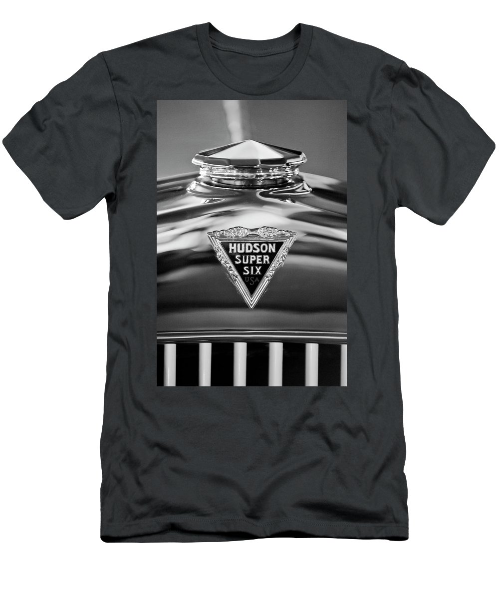 1929 Hudson Cabriolet Men's T-Shirt (Athletic Fit) featuring the photograph 1929 Hudson Cabriolet Hood Ornament 2 by Jill Reger