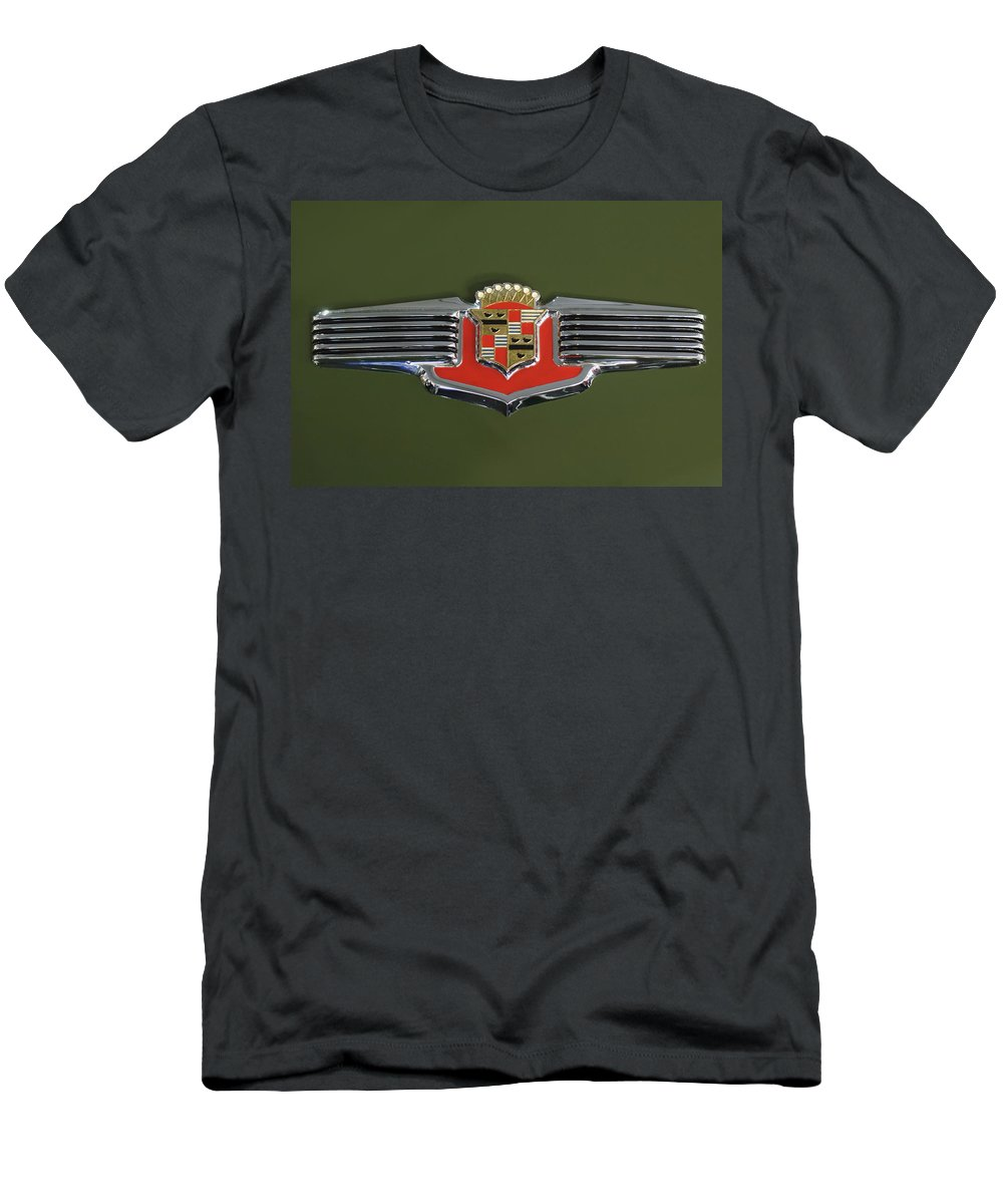 1941 Cadillac Series 62 Convertible Men's T-Shirt (Athletic Fit) featuring the photograph 1941 Cadillac 62 Emblem by Jill Reger
